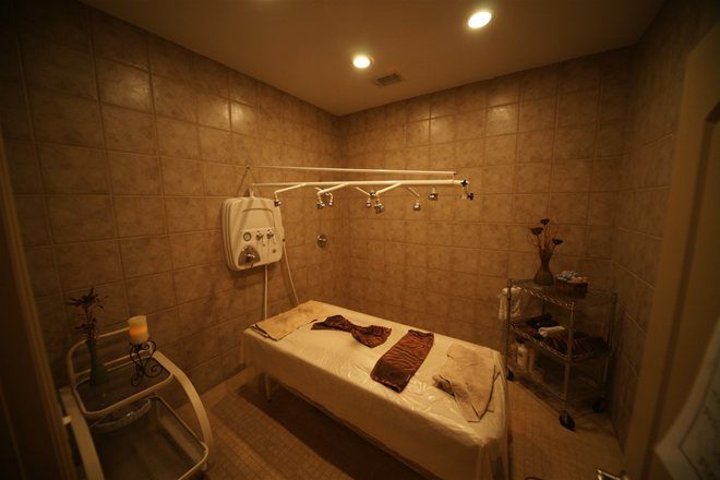 Vichy Shower at Luxury Day Spa in Cypress Texas